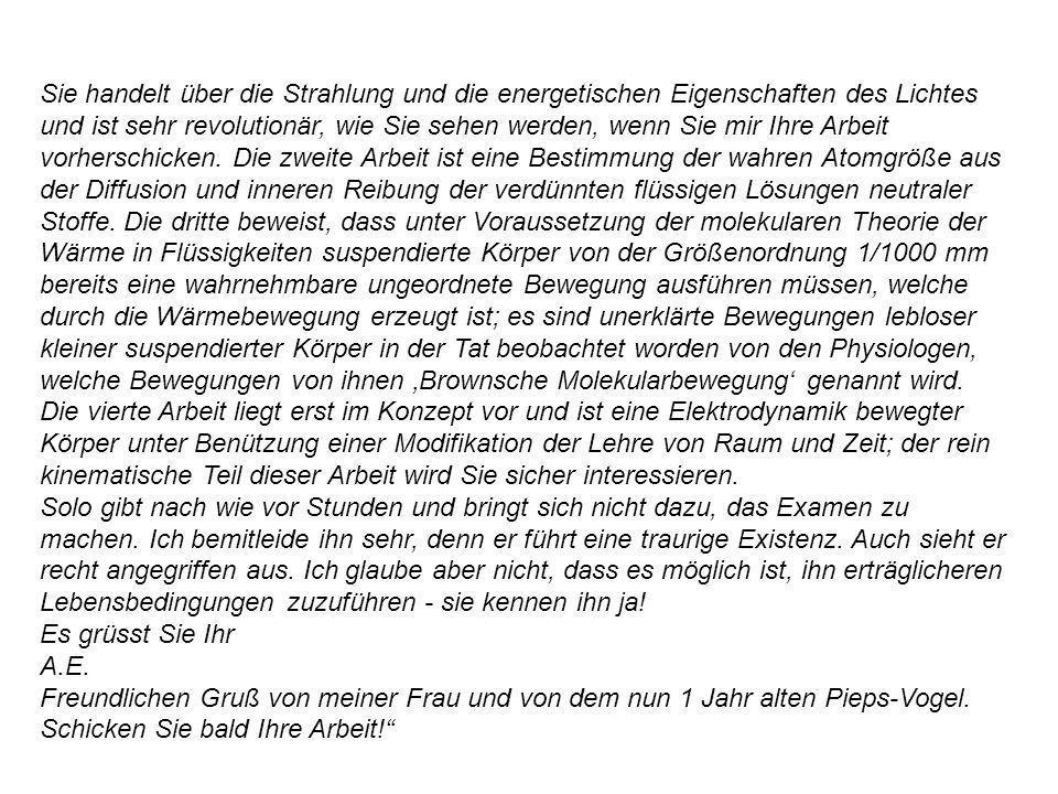 In een brief van 1917 aan Besso: Damit sind die Lichtquanten so gut wie gesichert.