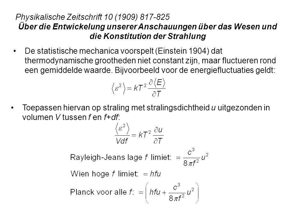 De statistische mechanica voorspelt (Einstein 1904) dat thermodynamische grootheden niet constant zijn, maar fluctueren rond een gemiddelde waarde. Bi