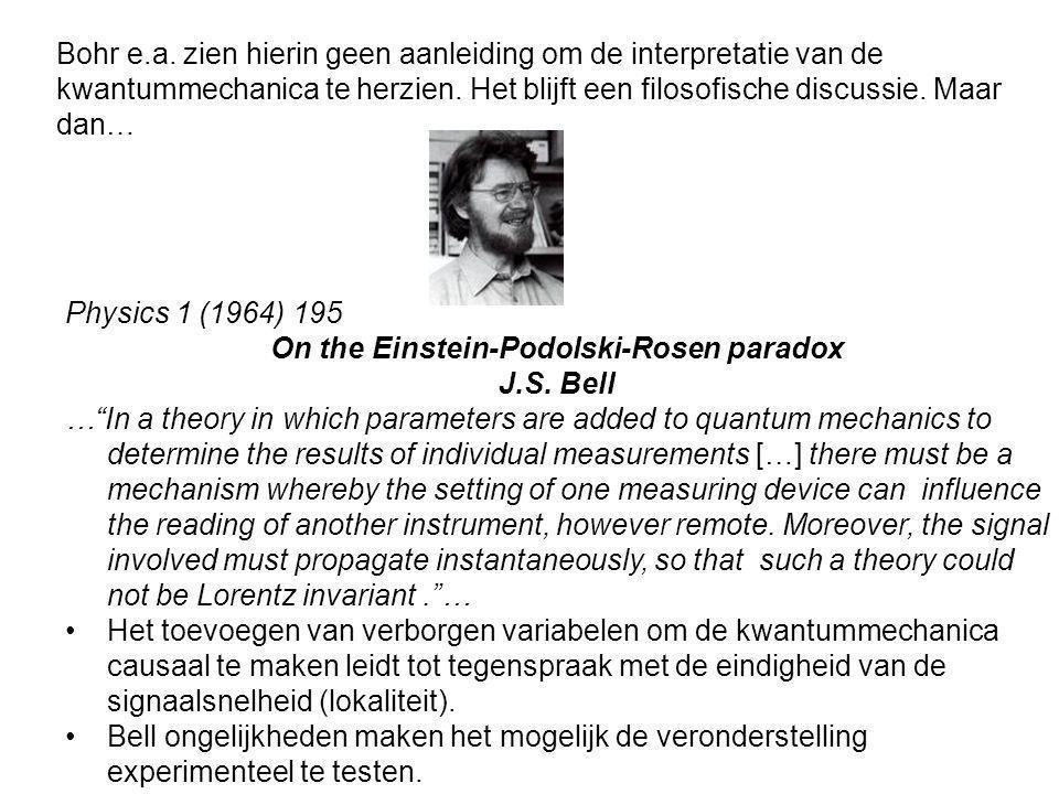 Physics 1 (1964) 195 On the Einstein-Podolski-Rosen paradox J.S.