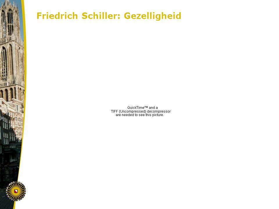 Friedrich Schiller: Ge z elligheid