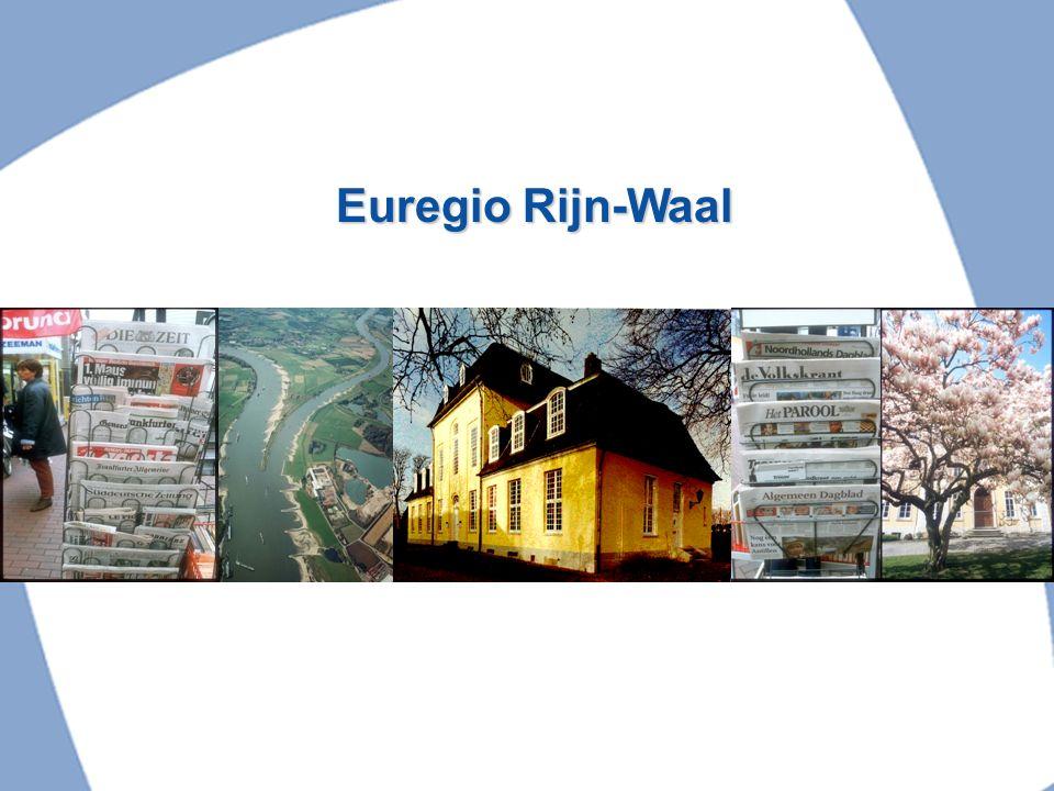 Arbeitsgebiet Euregio Rhein-Waal Werkgebied Euregio Rijn-Waal Fläche/Oppervlakte: 8446 km² Einwohnerzahl/ aantal inwoners: 3.7 Mil.
