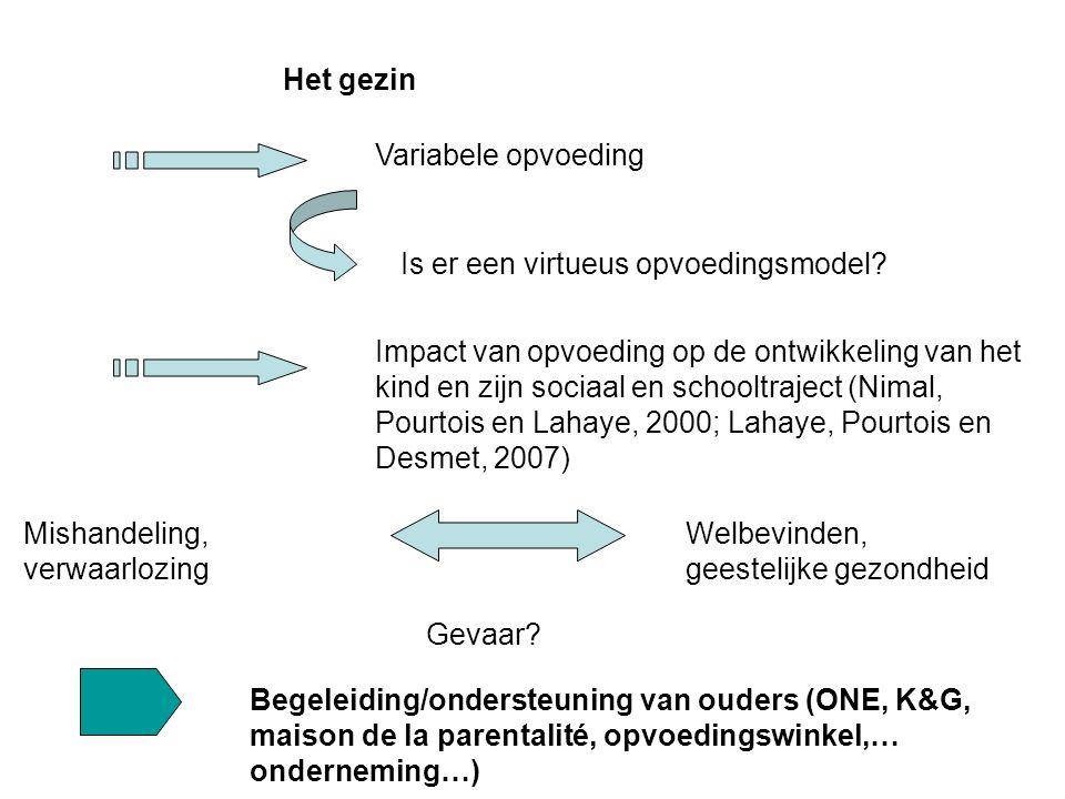 Het gezin Variabele opvoeding Welbevinden, geestelijke gezondheid Is er een virtueus opvoedingsmodel.