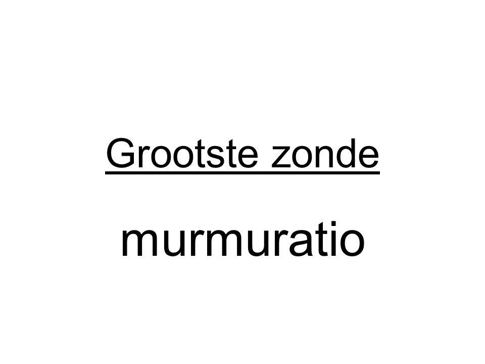Grootste zonde murmuratio