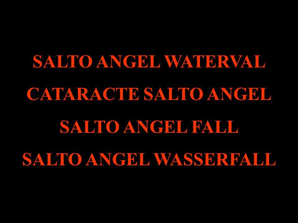 salto angel wasserfälle