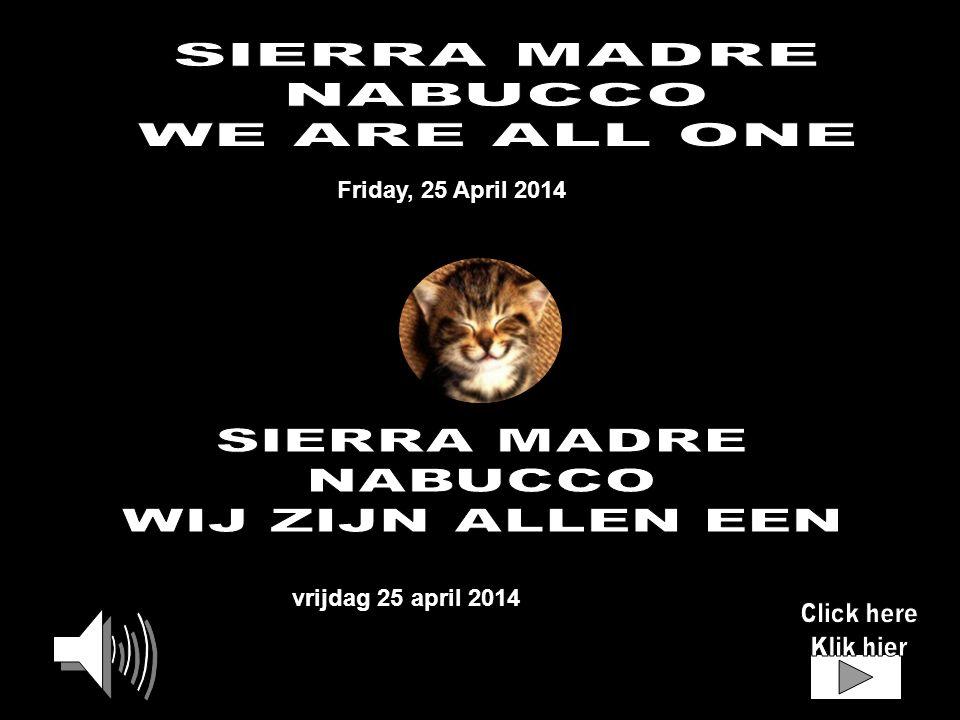 vrijdag 25 april 2014 Friday, 25 April 2014