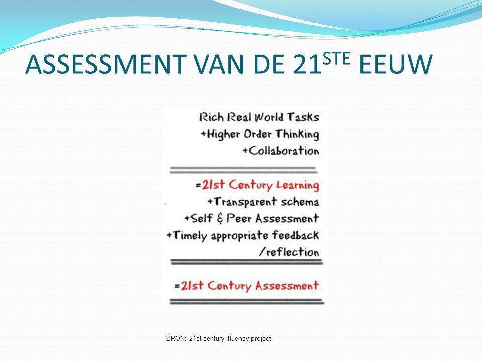 ASSESSMENT VAN DE 21 STE EEUW BRON: 21st century fluency project