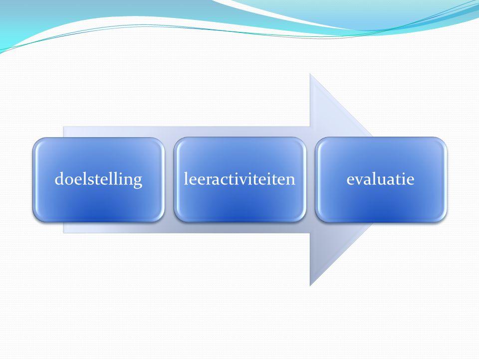doelstellingleeractiviteitenevaluatie