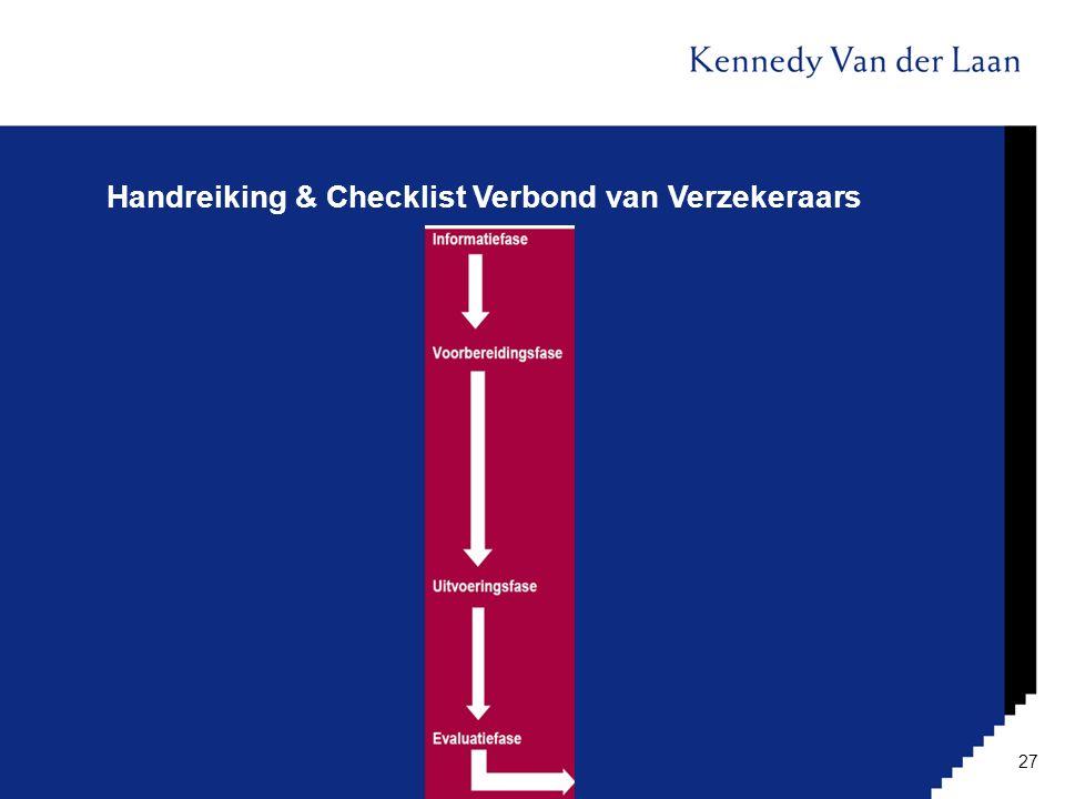 Handreiking & Checklist Verbond van Verzekeraars 27