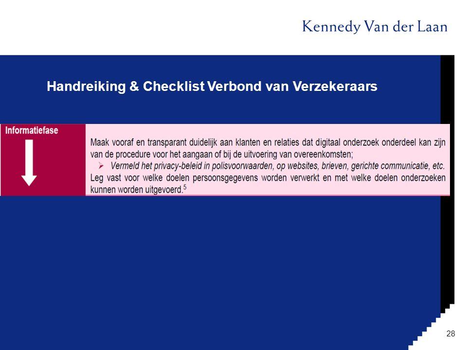 Handreiking & Checklist Verbond van Verzekeraars 28