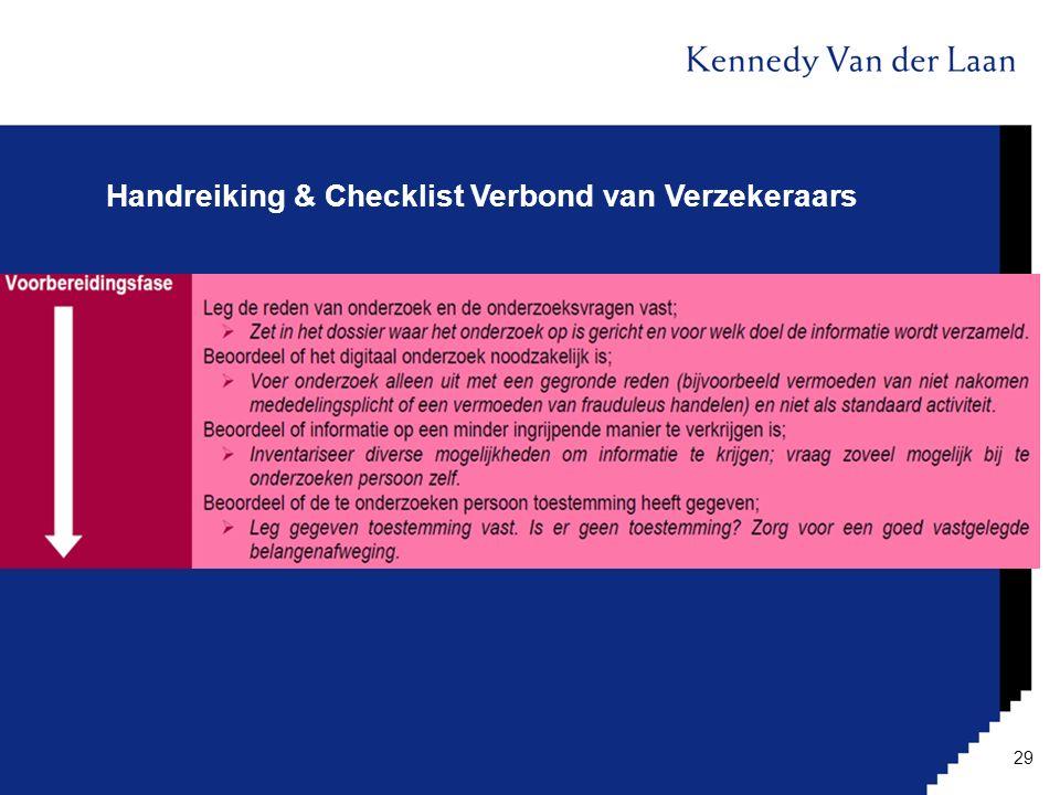 Handreiking & Checklist Verbond van Verzekeraars 29