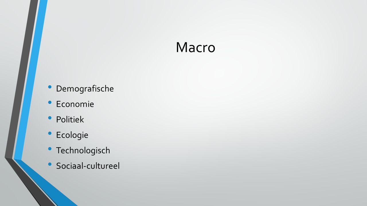 Macro Demografische Economie Politiek Ecologie Technologisch Sociaal-cultureel
