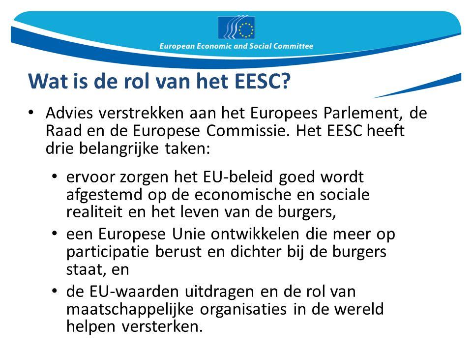 Wat is de rol van het EESC.