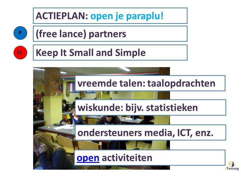 vreemde talen: taalopdrachten ACTIEPLAN: open je paraplu.