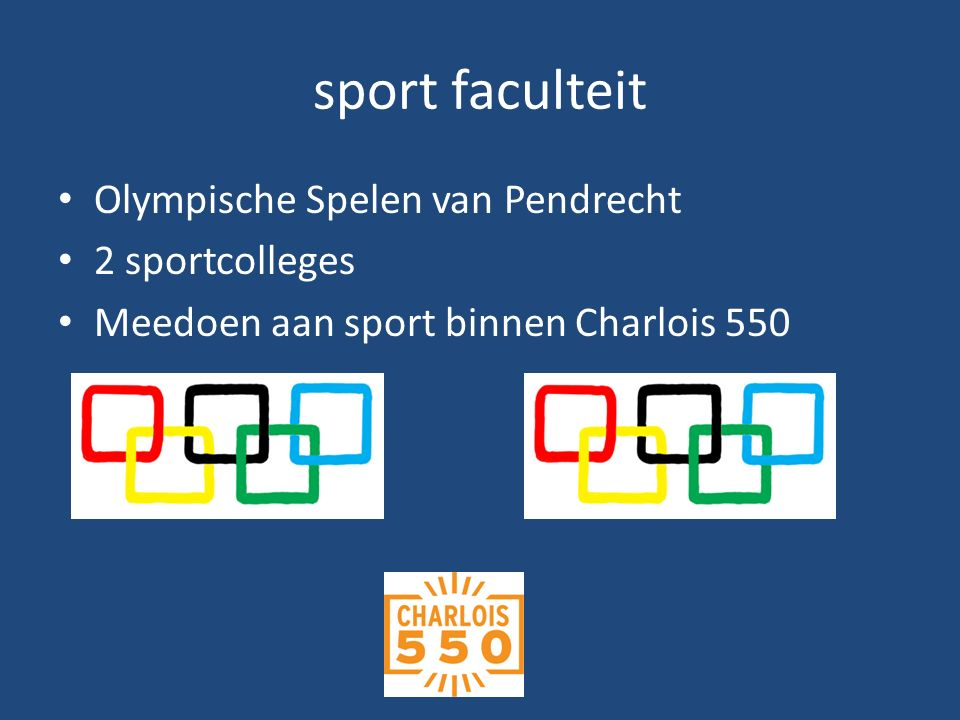 sport faculteit Olympische Spelen van Pendrecht 2 sportcolleges Meedoen aan sport binnen Charlois 550