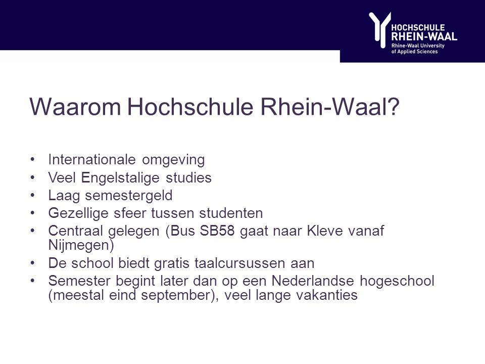 Waarom Hochschule Rhein-Waal.