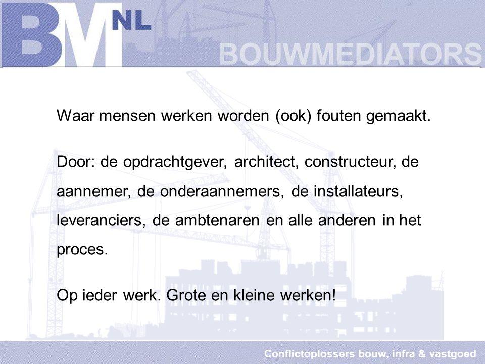 Conflictoplossers bouw, infra & vastgoed Wanneer bemiddeling?