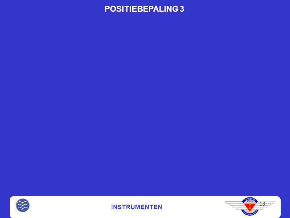 INSTRUMENTEN 13 POSITIEBEPALING 3