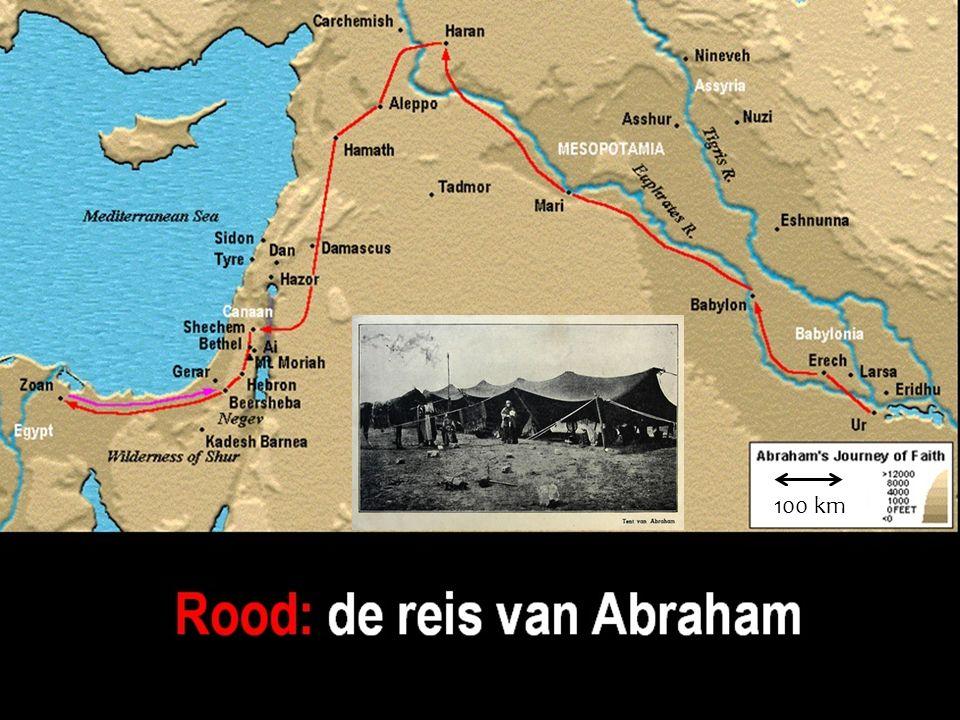 De reis van Abraham 100 km