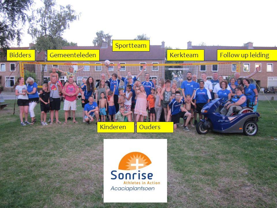 Sportteam Kerkteam OudersKinderen GemeenteledenBiddersFollow up leiding