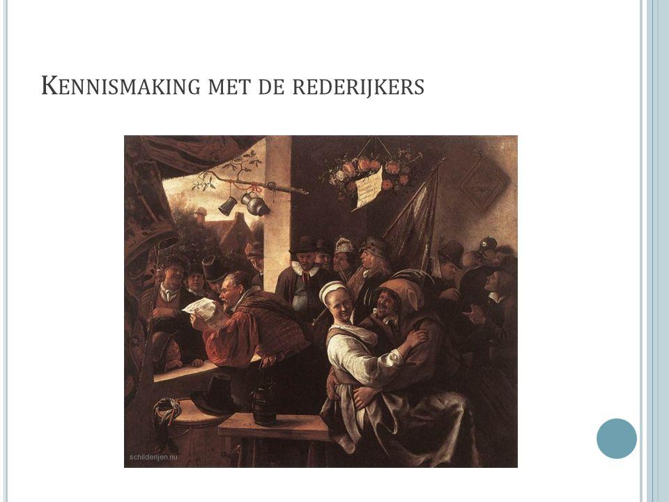 K ENNISMAKING MET DE REDERIJKERS