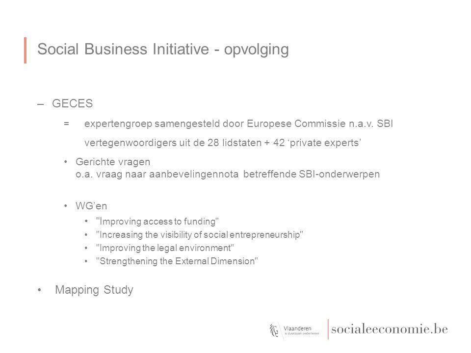 Social Business Initiative - opvolging –GECES = expertengroep samengesteld door Europese Commissie n.a.v.