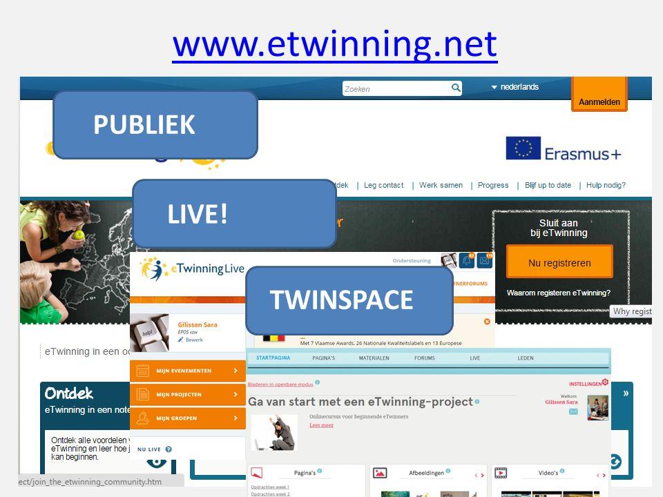 www.etwinning.net PUBLIEK LIVE! TWINSPACE