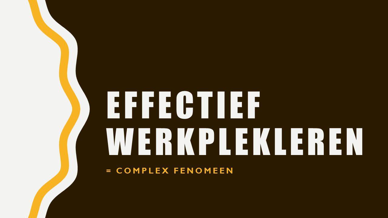 EFFECTIEF WERKPLEKLEREN = COMPLEX FENOMEEN