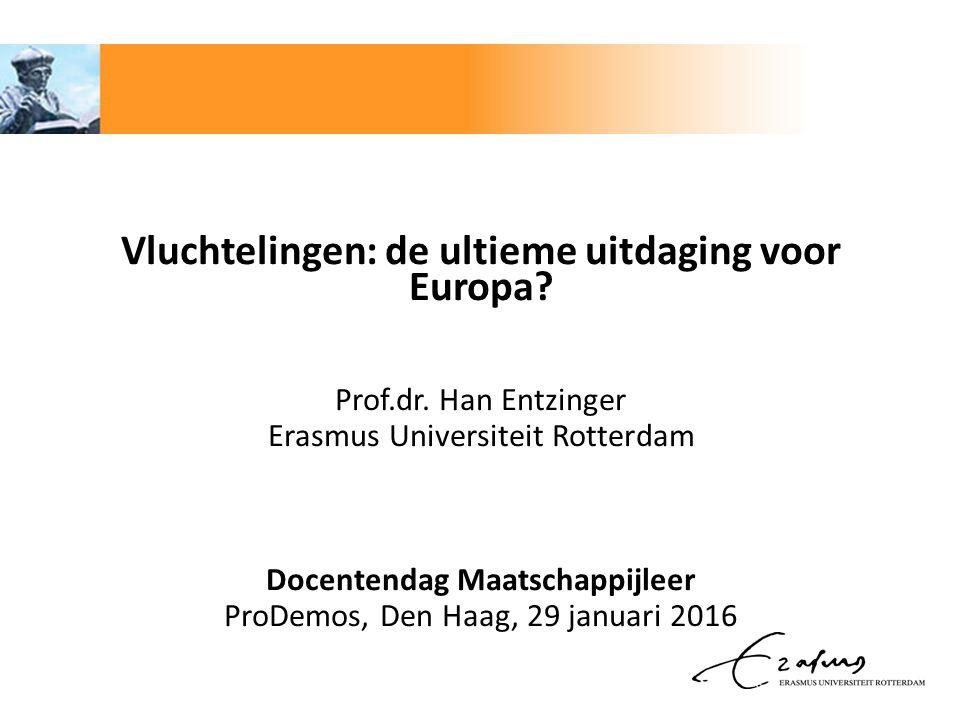 Te behandelen thema's: 1.De huidige vluchtelingencrisis 2.Uitdagingen voor Europa 3.Vluchtelingen en integratie in Nederland
