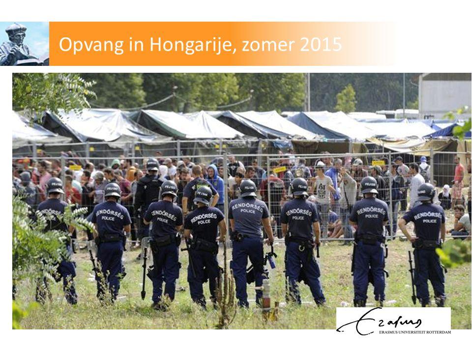 Opvang in Hongarije, zomer 2015