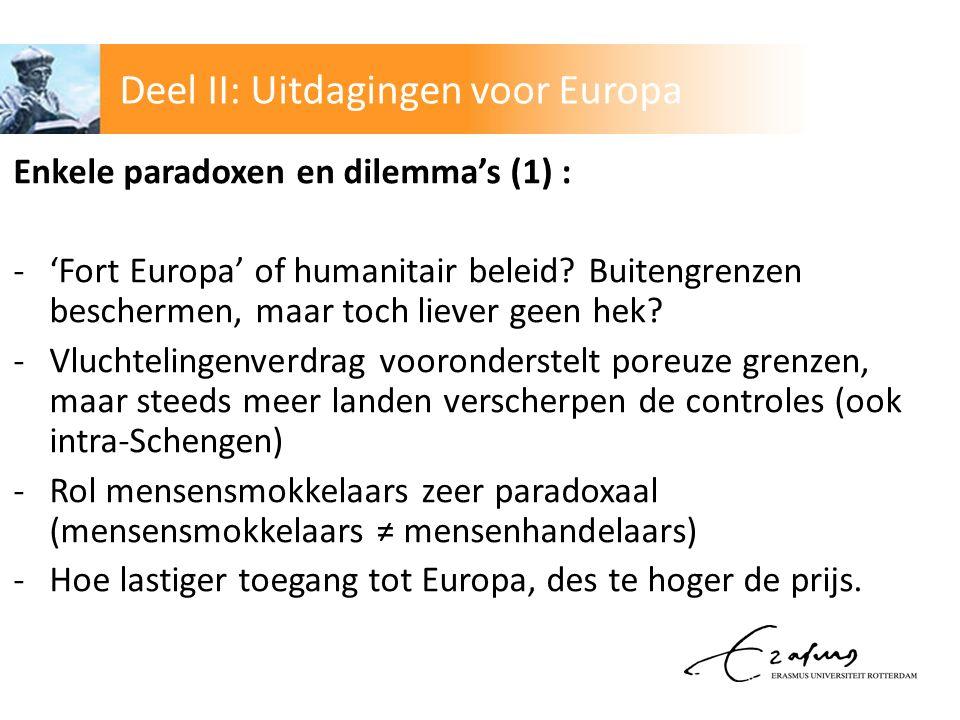 Enkele paradoxen en dilemma's (1) : -'Fort Europa' of humanitair beleid.