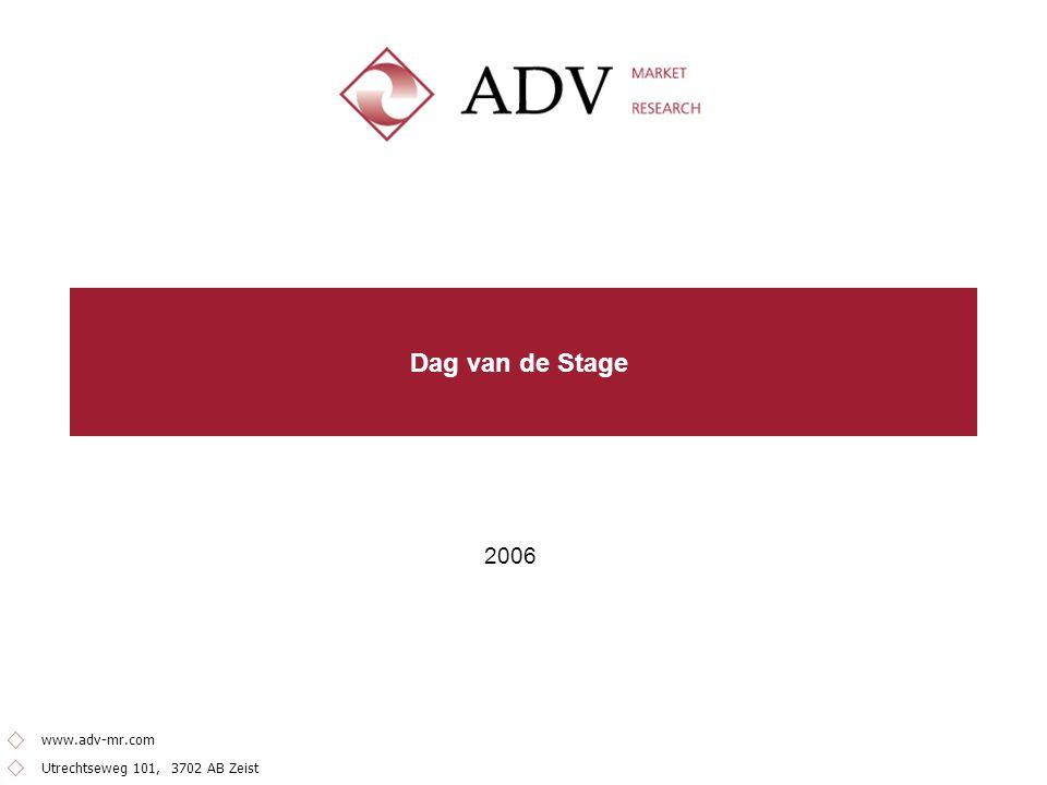 2 Inleiding Doel onderzoek Dag van de Stage Ten behoeve van de Dag van de Stage 2006 heeft de FNV ADV Market Research een onderzoek laten uitvoeren over onderwerpen die aansluiten bij deze dag.