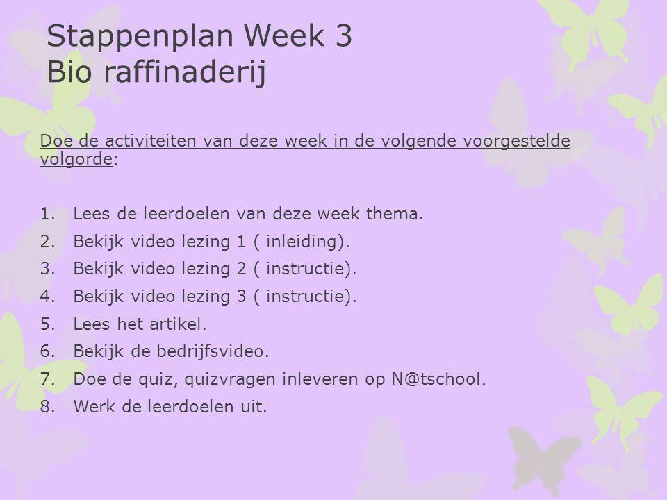 Doe de activiteiten van deze week in de volgende voorgestelde volgorde: 1.Lees de leerdoelen van deze week thema. 2.Bekijk video lezing 1 ( inleiding)