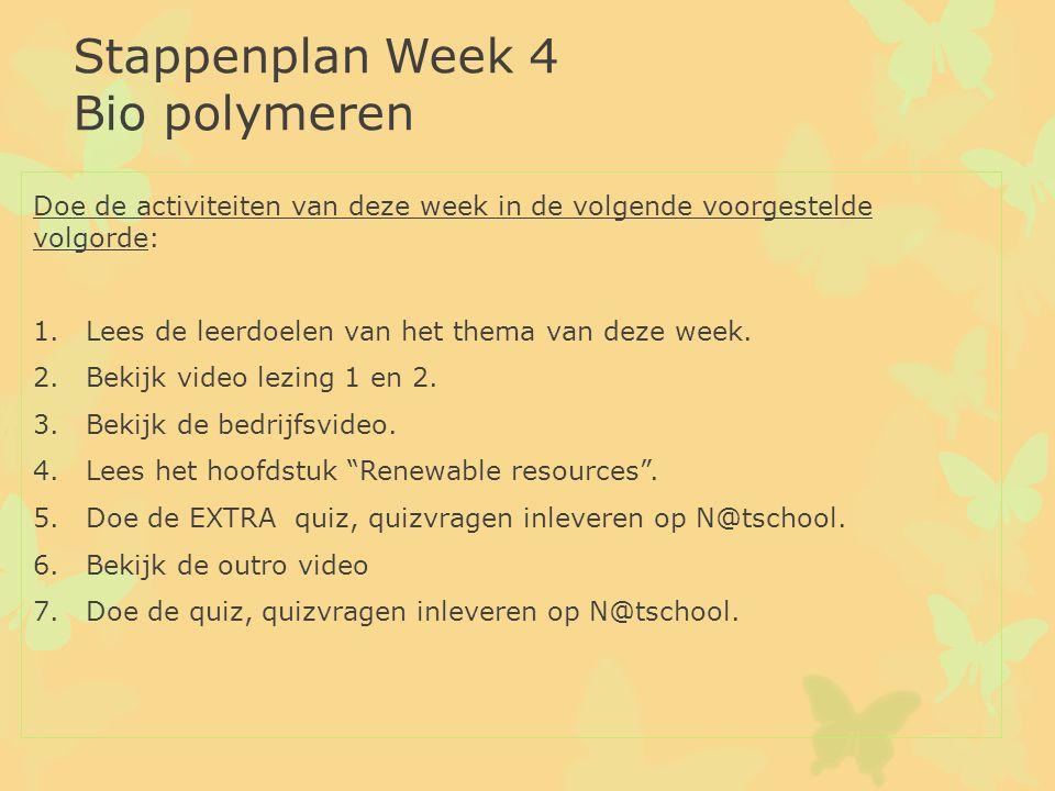 Doe de activiteiten van deze week in de volgende voorgestelde volgorde: 1.Lees de leerdoelen van het thema van deze week. 2.Bekijk video lezing 1 en 2