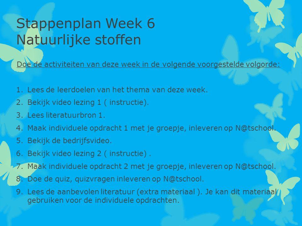 Doe de activiteiten van deze week in de volgende voorgestelde volgorde: 1.Lees de leerdoelen van het thema van deze week. 2.Bekijk video lezing 1 ( in