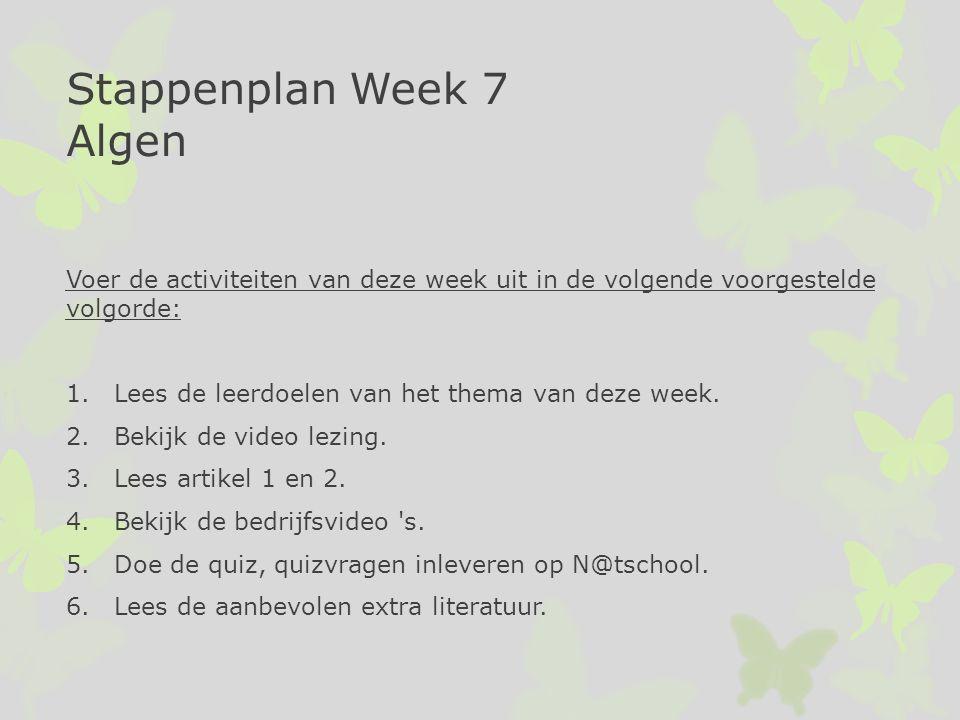 Voer de activiteiten van deze week uit in de volgende voorgestelde volgorde: 1.Lees de leerdoelen van het thema van deze week. 2.Bekijk de video lezin