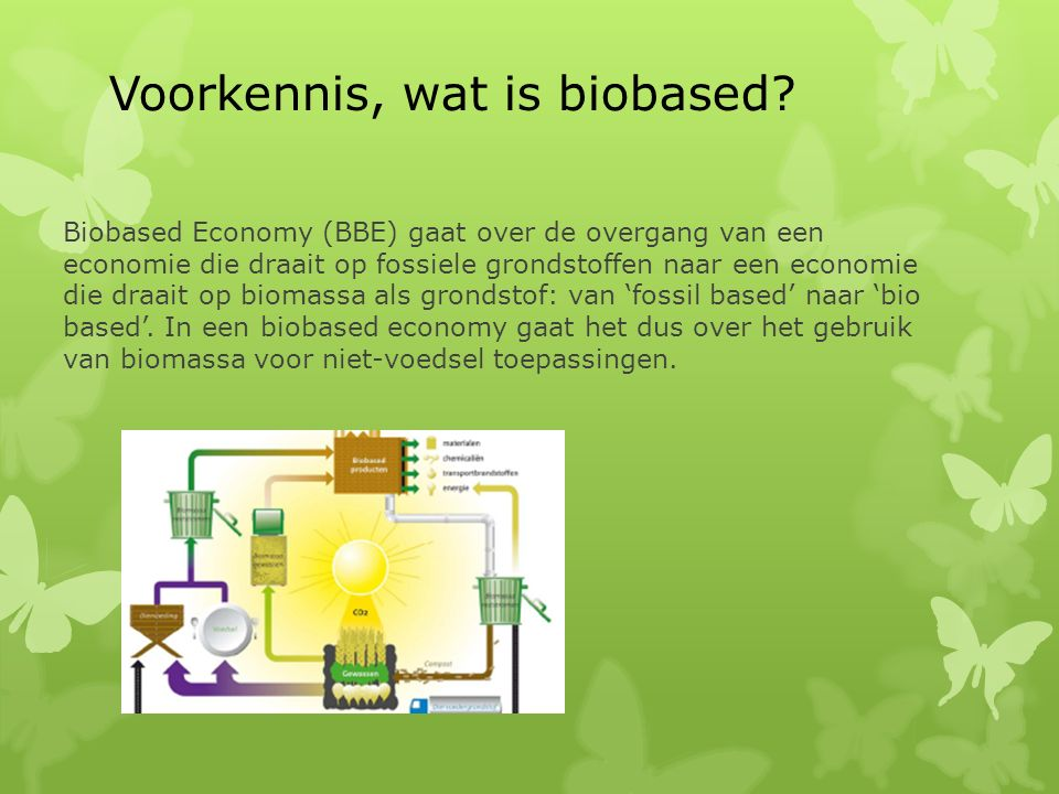 Voorkennis, wat is biobased.