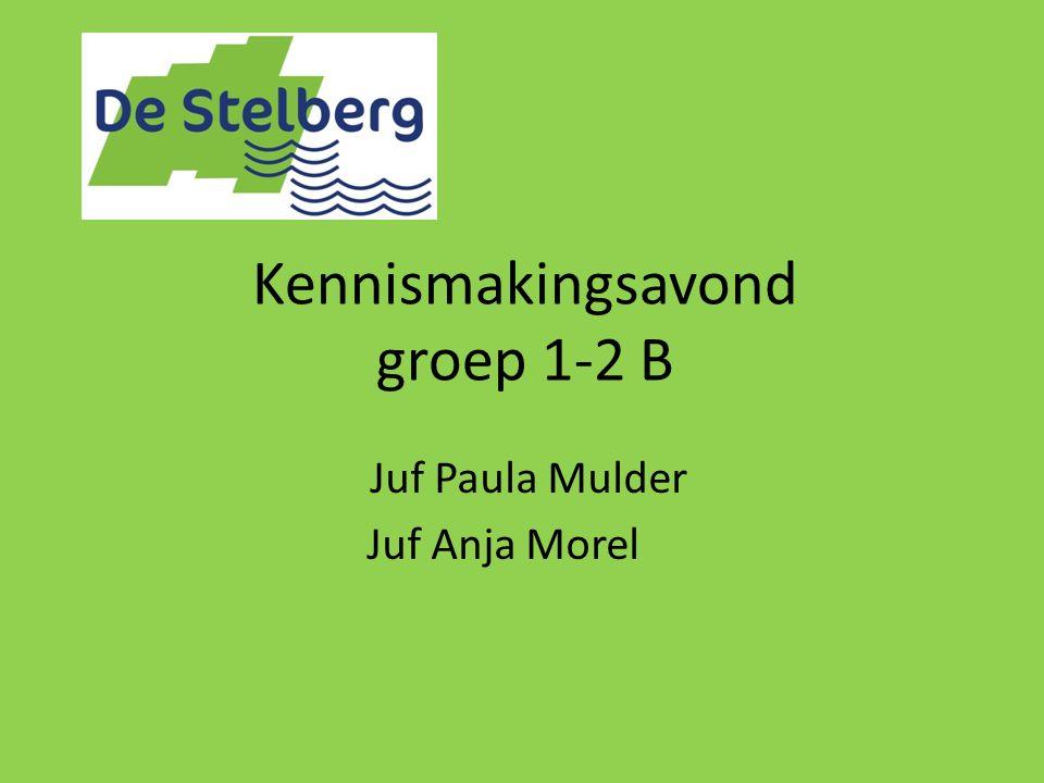 Kennismakingsavond groep 1-2 B Juf Paula Mulder Juf Anja Morel
