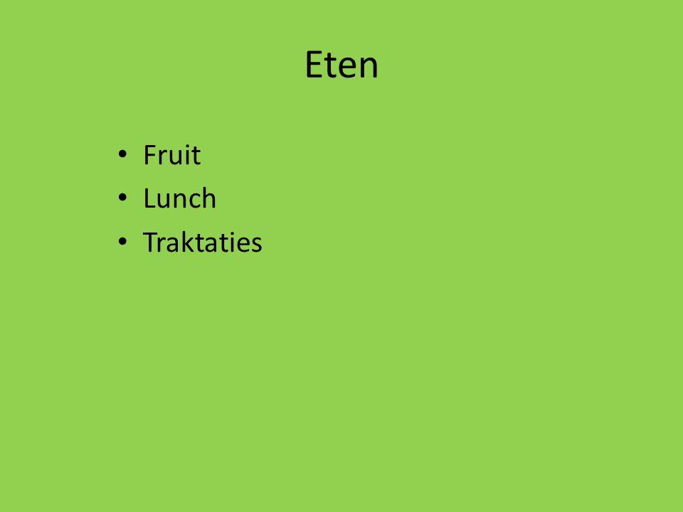 Eten Fruit Lunch Traktaties