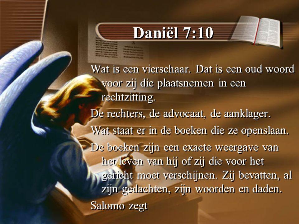 Daniël 7:10 Wat is een vierschaar.
