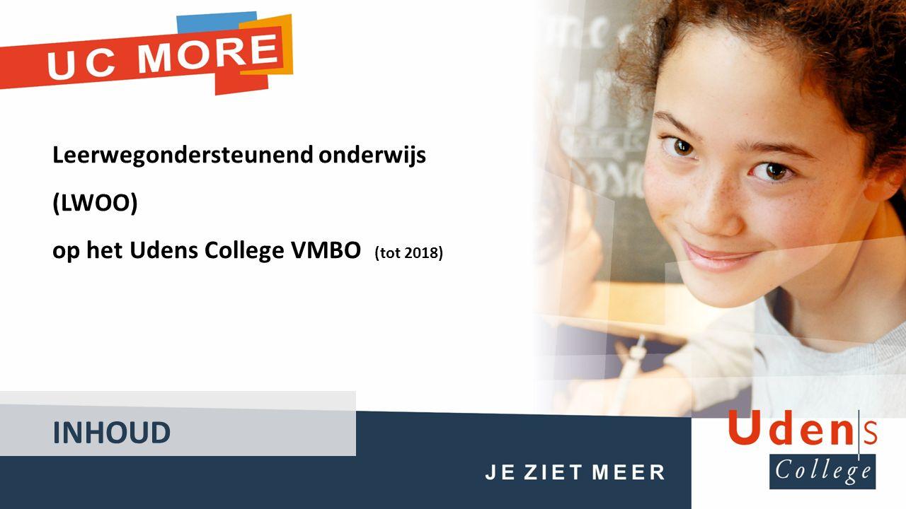 Leerwegondersteunend onderwijs (LWOO) op het Udens College VMBO (tot 2018) INHOUD