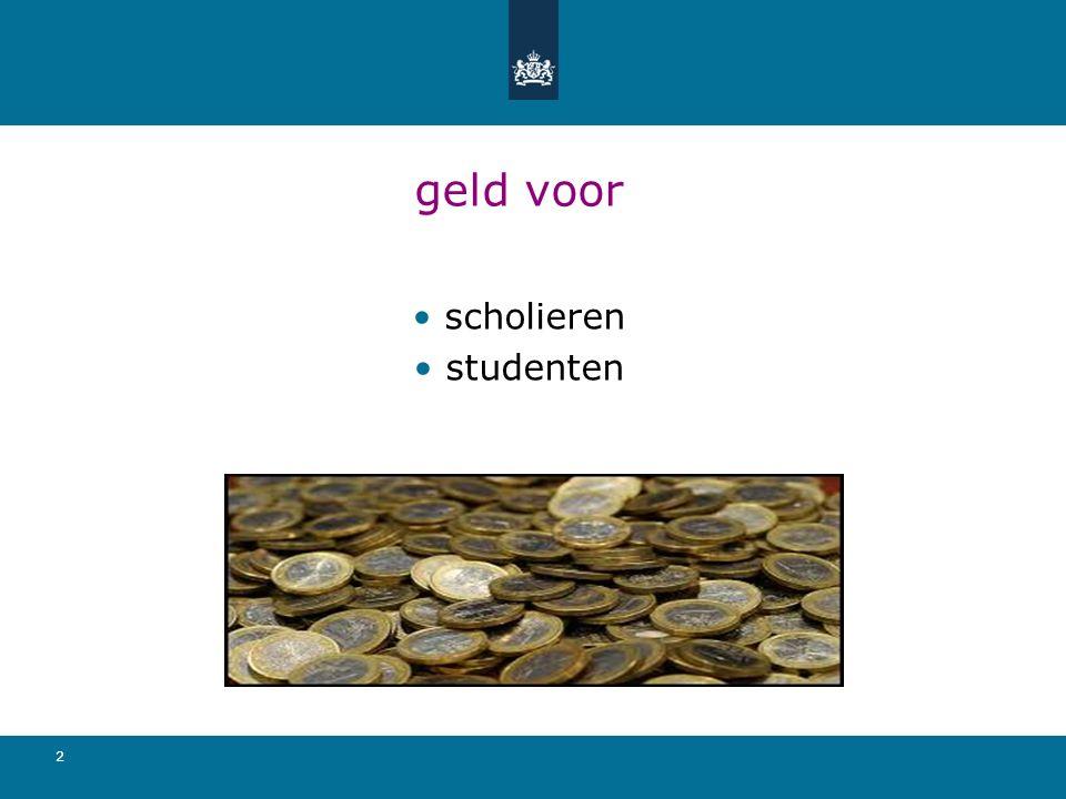 2 geld voor scholieren studenten