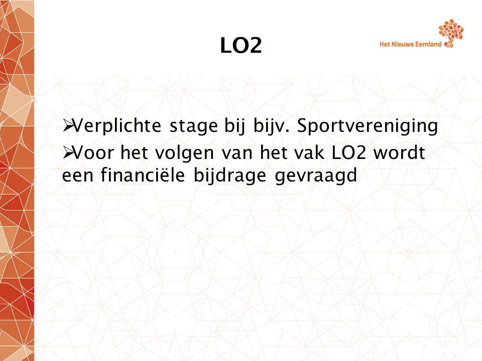 LO2  Verplichte stage bij bijv.
