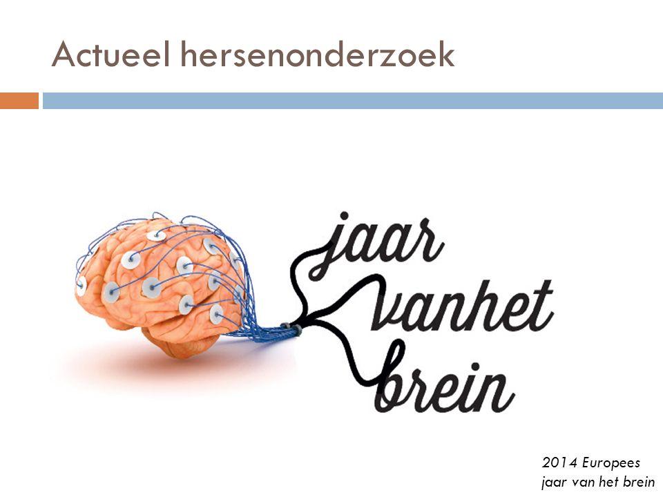 Actueel hersenonderzoek 2014 Europees jaar van het brein
