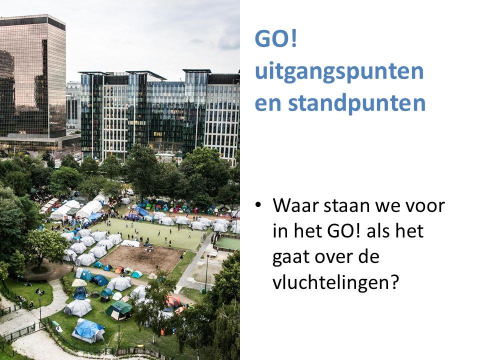 GO! uitgangspunten en standpunten Waar staan we voor in het GO! als het gaat over de vluchtelingen