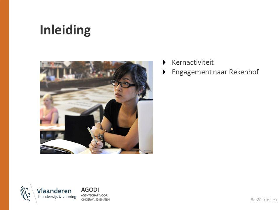 Inleiding Kernactiviteit Engagement naar Rekenhof 8/02/2016 │51