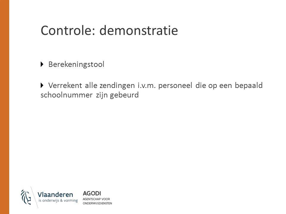 Controle: demonstratie Berekeningstool Verrekent alle zendingen i.v.m.