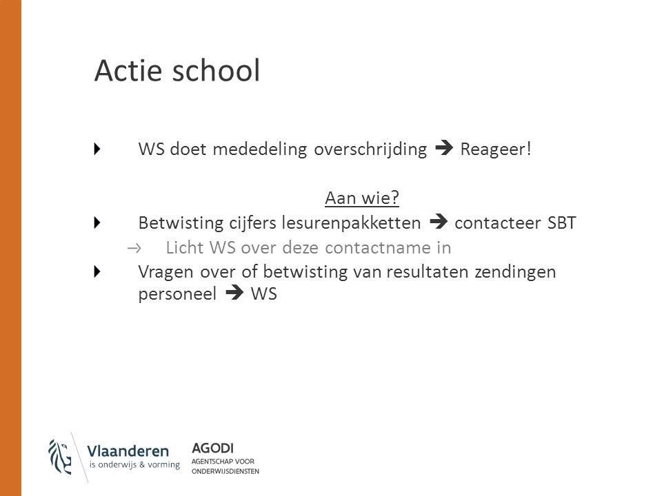 Actie school WS doet mededeling overschrijding  Reageer.