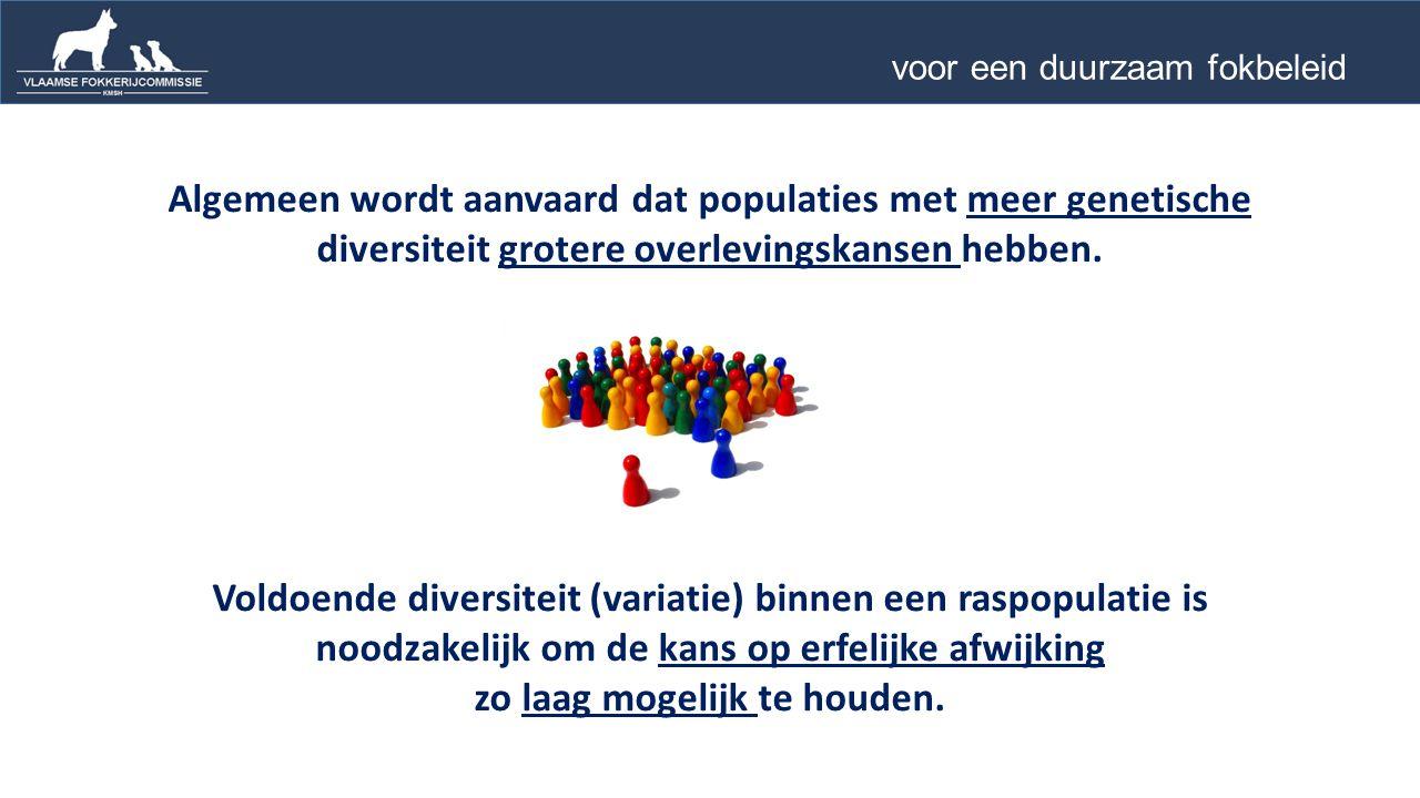 Algemeen wordt aanvaard dat populaties met meer genetische diversiteit grotere overlevingskansen hebben.