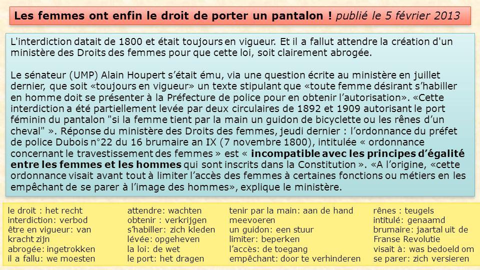 En quoi Yves Saint Laurent a-t-il donné le pouvoir à la femme .