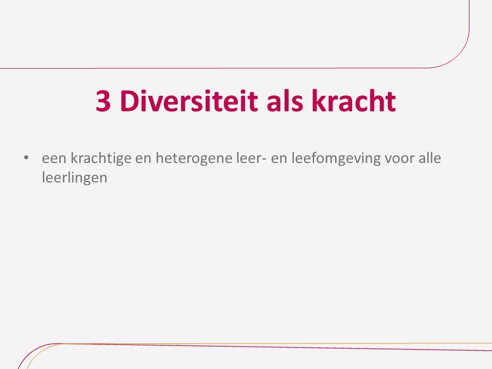 3 Diversiteit als kracht een krachtige en heterogene leer- en leefomgeving voor alle leerlingen
